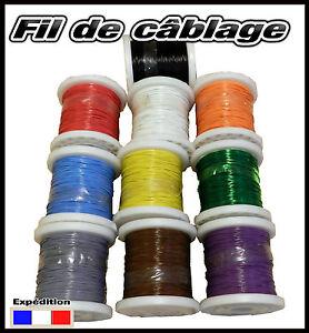 awg26 fil de cablage modélisme bobine de 100m plusieurs couleurs disponibles