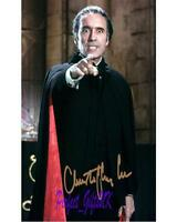 CHRISTOPHER LEE COUNT DRACULA SIGNED 10X8 REPRO PHOTO PRINT