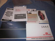 2005 KIA SPECTRA OWNERS MANUAL OWNER'S SET