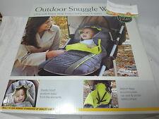 New Eddie Bauer Baby Outdoor Snuggle Ultra Soft Fleece Wrap ~ Grey/Green NIB