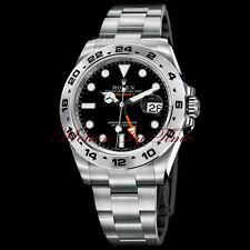"Rolex Explorer II Black ""Orange Hand"" Stainless Steel 42mm Anniversary 216570"