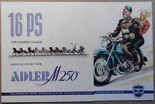 Adler M 250 propsekt 1953 Oldtimer Moto Heinrich Kleyer Francoforte