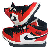 Jordan 1 Chicago Black Toe Mid Size 8.5 554724-069 Gym Red Black 100% Authentic