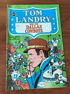 Tom Landry and the Dallas Cowboys Spire Comics 1973 VG