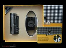 COHIBA GIFT SET - 3 TORCH JET FLAME CIGAR CIGARETTE LIGHTER & PRECISION CUTTER