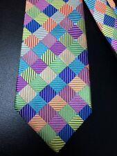 Holland & Sherry Silk Tie Woven Pastel Harlequin Pattern