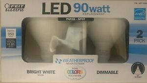 Feit Electric PAR38 LED Bright White Dimmable 90w (2Pack)
