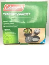 Coleman Camping Cooking Set Heavy Duty Steel Non-Stick Pans ''New In Box''