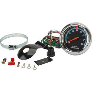 "3-1/2"" Electric Tachometer, 8K, Chrome"