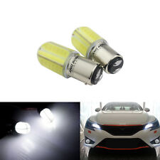2X BAY15D P21/5W COB 8W 12V LED feux de freinage Blanc Lumiere Stop Clignotant