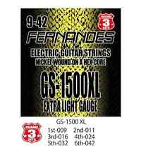Fernandes Gs-1500xl Electric Guitar Strings 3 Sets Extra Light