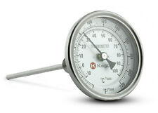 Kegco Homebrew Dial Thermometer for Homebrewing Brew Pots