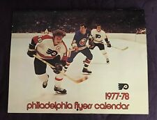 PHILADELPHIA  FLYERS CALENDAR  1977-78  VINTAGE  ICE HOCKEY
