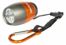 RAC Aluminium extra bright LED torch case carabiner lanyard batteries included