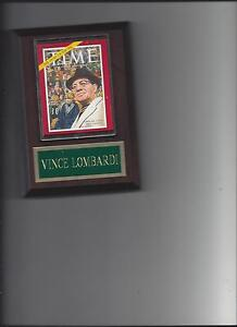 VINCE LOMBARDI PLAQUE GREEN BAY PACKERS FOOTBALL MAG PHOTO PLAQUE NFL