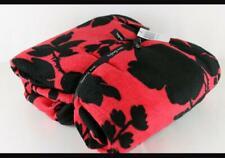 "VERA BRADLEY Throw Blanket 80""x50"" Silhouette Floral Red & Black NWT/ SEALED"