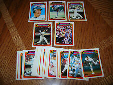 1989 WOOLWORTH TOPPS COLLECTOR SERIES BASEBALL SET OF 33 HIGH GLOSS CARDS RARE