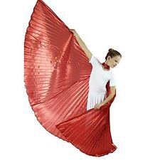 Danzcue Child Medium/Large Solid Red Belly Dance Worship Angel Wings With Sticks