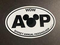 WDW Walt Disney World Annual Passholder Oval Car Magnet AP Mickey Icon Head