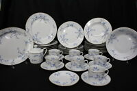 Mint 40pc Decors de France NOTRE DAME DE PARIS Blue Floral China Set for 8 (159)