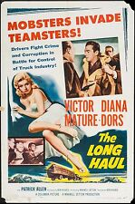 THE LONG HAUL, 1957, One Sheet, VICTOR MATURE, DIANA DORS, CRIME NOIR