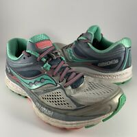 Saucony Womens Gray Teal Guide 10 Running Walking  Shoes S10350-5 Size 7 US