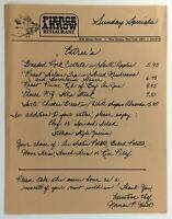 1970's Pierce Arrow Original Vintage Restaurant Menu West Seneca New York