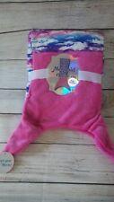 "Pink and Blue Mermaid tail Warm & Snuggly Velvet Fleece Blanket 22""X 52"""