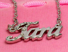 Name Necklace TARA - 18ct White Gold Plated - Birthday Engagement Gifts For Her