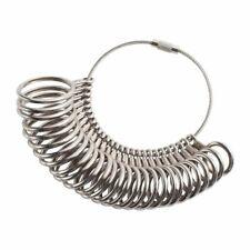Insten Metal Finger Sizing Gauge Measuring Ring Tool, Silver [27pcs-set]