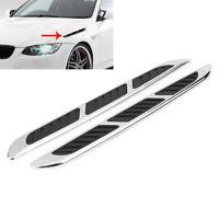 Car Decoration Sticker Fender Side Air Flow Vent Hole Cover Intake Grille Trim