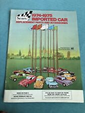 Sears imported car replacement parts & accesories catalog 1974-1975 Free Ship
