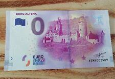 Burg Altena 2017-1 Souvenirschein | 0 € billet touristique - roter Sich.streifen
