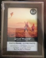 Special Moments Brown Wood Frame with Plastic Bronze Borders, 5x7 in. NEW