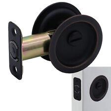 Round Sliding Pocket Door Hardware Latch Pull in Oil Rubbed Bronze