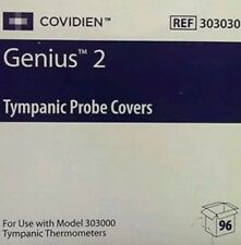 Covidien Genius 2 Tympanic Timpanic Thermometer Temperature Probe Covers Bx/ 96