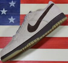 Nike Dunk Low Premium Hemp Net Medium Brown Shoe Vtg 2005 [307696-121] Mens 10.5