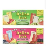 Wyler's Authentic Italian Ice, 2 Each- Berry Original Flavors, 4 BOXES Total