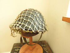 Military British WW2 Turtle Shell Steel Helmet With Netting Cover (5246)