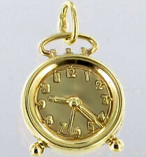 ECHT GOLD *** Großer Anhänger Uhr Wecker 23 mm