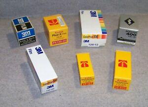 Pour collection : lot de 7 films périmés, Kodak, Agfa et 3M