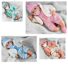 "18"" Lifelike Large Size Soft Bodied Baby Doll Girls Boys Dolly Toy With Sounds"