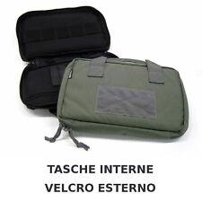 Valigetta porta pistola muli tasca imbottita con cerniera custodia borsa VERDE