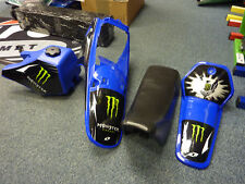 New YAMAHA PW 80 Plastics Kit Tank Seat Blue Monster Energy Graphics Fitted