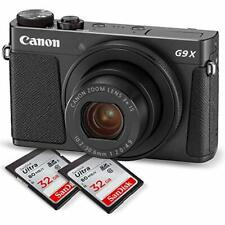 Canon PowerShot G9 X Mark II Digital Camera (Black) Deluxe Bundle W/ 2 X 32 G...