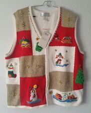 NWT Lisa International Size 2x Christmas Holiday Sweater Santa Party vest