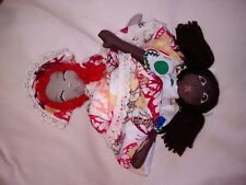 Topsy Turvy Doll Lot # 11 Color Dots/Orange butterfly Hand made by Ginger Girl
