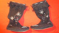 Bronx Stiefel Gr. 36 37 Hippie Vintage Fascheing Leder Sammler alt Wildleder