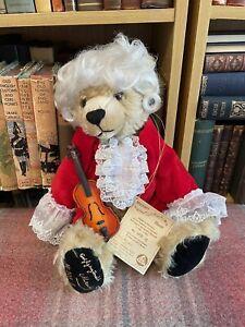 Hermann Teddy - Mozart Bear -Limited Edition - Label - Mohair - Vintage