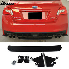 For 15-17 Subaru WRX OE STI Style Unpainted Black Rear Diffuser Rear Lip ABS
